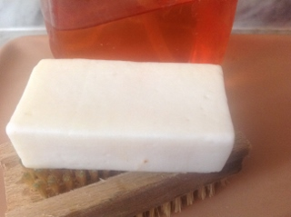 Aloe Vera and Olive Oils soap made with equal amounts of liquid to oils